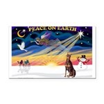 XmasSunrise/Dobie (red) Rectangle Car Magnet