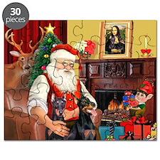 Santa's 2 Dobermans Puzzle