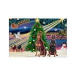 XmasMagic/ 2 Dobies Rectangle Magnet (10 pack)