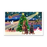 XmasMagic/ 2 Dobies Rectangle Car Magnet