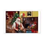 Santa's Dobie (Bz) Rectangle Car Magnet