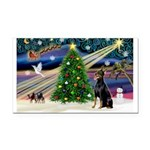 XmasMagic/Dobie (1) Rectangle Car Magnet