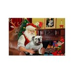 Santa's white EBD Rectangle Magnet