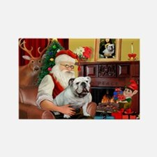 Santa's white EBD Rectangle Magnet