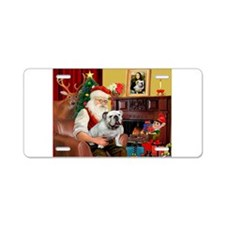 Santa's white EBD Aluminum License Plate