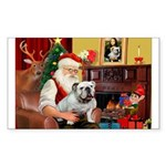 Santa's white EBD Sticker (Rectangle 10 pk)