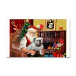 Santa's white EBD Rectangle Car Magnet