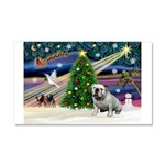 Xmas Magic & Bulldog Car Magnet 20 x 12