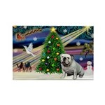 Xmas Magic & Bulldog Rectangle Magnet