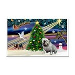 Xmas Magic & Bulldog Rectangle Car Magnet