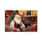 Santa's Flat Coat R Rectangle Magnet