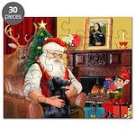 Santa's Flat Coat R Puzzle
