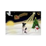 Night Flight/Fox Terrier Rectangle Magnet (10 pack