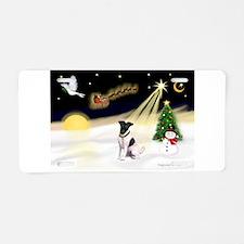 Night Flight/Fox Terrier Aluminum License Plate