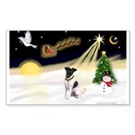 Night Flight/Fox Terrier Sticker (Rectangle)