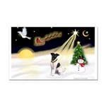 Night Flight/Fox Terrier Rectangle Car Magnet