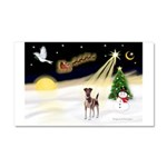 Night Flight/Fox Terrier 5 Car Magnet 20 x 12