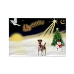 Night Flight/Fox Terrier 5 Rectangle Magnet