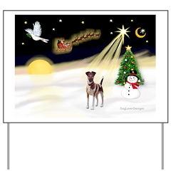 Night Flight/Fox Terrier 5 Yard Sign
