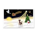 Night Flight/Fox Terrier 5 Rectangle Car Magnet