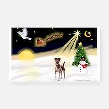 Night Flight/Fox Terrier 5 Rectangle Car Magnet