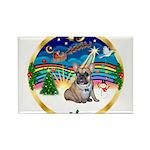 XmasMusic 3/Fr Bulldog #16 Rectangle Magnet (10 pa