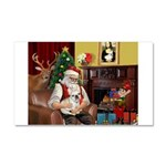 Santa's French BD (1) Car Magnet 20 x 12