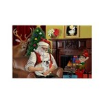 Santa's French BD (1) Rectangle Magnet (10 pack)
