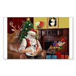 Santa's French BD (1) Sticker (Rectangle 10 pk)