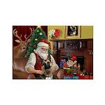 Santa's G-Shepherd (#2) Rectangle Magnet