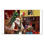 Santa's G-Shepherd (#2) Sticker (Rectangle)