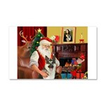Santa's German Shepherd Car Magnet 20 x 12