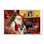 Santa's German Shepherd Sticker (Rectangle 50 pk)