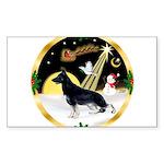 NightFlight-German Shep3 Sticker (Rectangle)