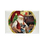 Santa's German Shepherd Rectangle Magnet