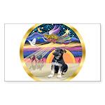 XmasStar/German Shepherd Sticker (Rectangle 10 pk)