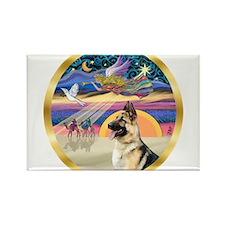 XmasStar/ German Shepherd Rectangle Magnet