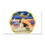 XmasStar/German Shepherd Rectangle Car Magnet