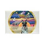 XmasStar/German Shepherd 12 Rectangle Magnet (10 p