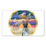 XmasStar/German Shepherd 12 Sticker (Rectangle)