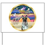 XmasStar/German Shepherd 12 Yard Sign