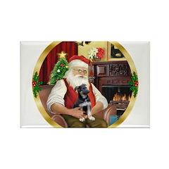 Santa's German Shepherd Rectangle Magnet (10 pack)