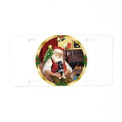 Santa's German Shepherd Aluminum License Plate