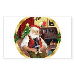 Santa's German Shepherd Decal