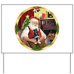Santa's German Shepherd Yard Sign