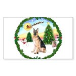 Take Off1/ German Shepherd Sticker (Rectangle)