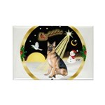 Night Flight/ German Shepherd Rectangle Magnet