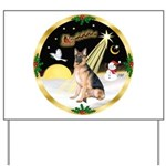 Night Flight/ German Shepherd Yard Sign