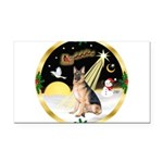 Night Flight/ German Shepherd Rectangle Car Magnet