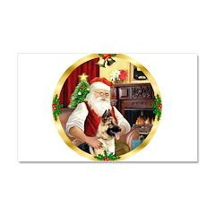 Santa's German Shepherd Car Magnet 20 x 12